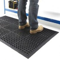 Heavy Duty Anti Fatigue Rubber Door Entrance  Mat 0.6m x 0.9m